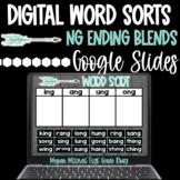 Digital Word Sorts Ending NG Blends Google Slides | Distance Learning