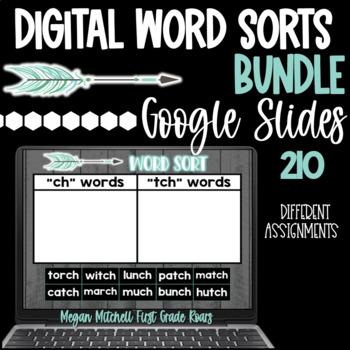 Word Sorts Phonemic Digital BUNDLE using Google Slides
