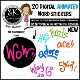 Digital Word Stickers Animated Collection, Smita Keisser Designs