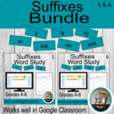 Digital Word Study Bundle, Suffixes, Words Their Way Digital