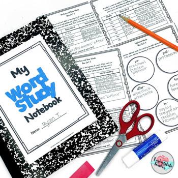 Digital Word Study Notebook Activities for Google Slides (TM) BUNDLE