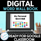 Digital Word Wall Book for Distance Learning