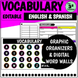 Vocabulary: Graphic Organizers & Digital Word Walls (Engli