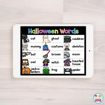 Digital Word Wall: October