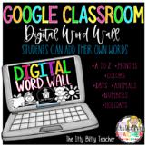 Digital Word Wall for Google Classroom