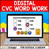 Digital Word Word - CVC for Google Classroom™