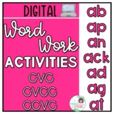 Digital Word Work Activities CVC CVCC CCVC - Short a