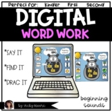 Digital Word Work | Beginning Sounds | Distant Learning