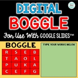 Digital Word Work Boggle