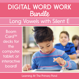 Digital Word Work Bundle: CVCe Words (Long Vowels With Silent E) | BOOM Cards™