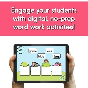 Digital Word Work Bundle: CVCe Words (Long Vowels With Silent E) | BOOM Cards™
