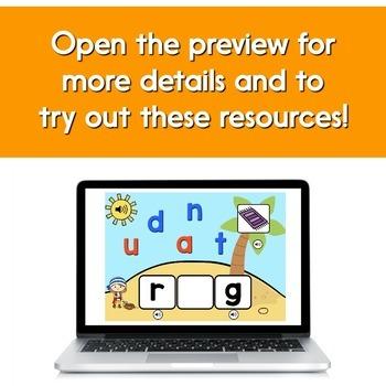 Digital Word Work Bundle: Introduction to CVC Words | BOOM Cards™
