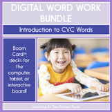 Digital Word Work Bundle: Introduction to CVC Words | BOOM Cards™
