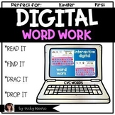Digital Word Work CVC Distance learning support