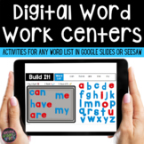 Digital Word Work  | Digital Sight Words | Google and Seesaw | Distance Learning