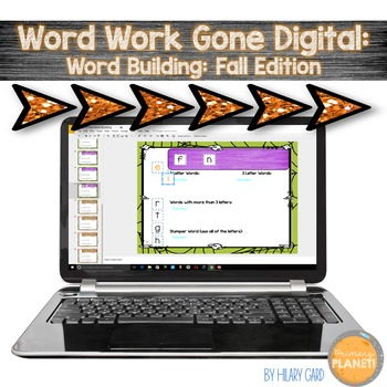 Digital Word Work Fall Word Building