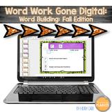 Digital Word Work Fall Word Building