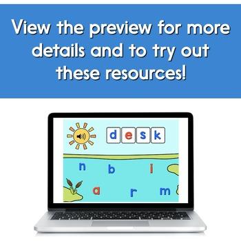 Digital Word Work Short Vowels Bundle: CVC + Blends & Digraphs | Boom
