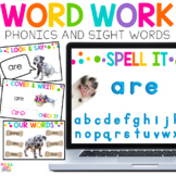 Digital Word Work & Phonics for Google (TM) and PowerPoint
