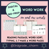 Digital Word Work Practice with Reading Passage ⭐️ OU and OW