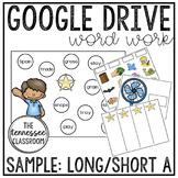 Digital Word Work SAMPLE: Long/Short A