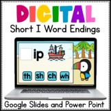 Digital Word Work Short I Word Endings Google Slides and P