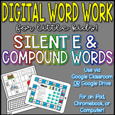 Digital Word Work - Silent E & Compound Words - Distance Learning