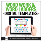Digital Word Work & Word Ladders for Distance Learning - P