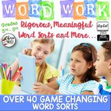 Word Sorts Word Work Digital & Print Word Activities 3rd 4