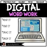 Digital Word Work distance learning support