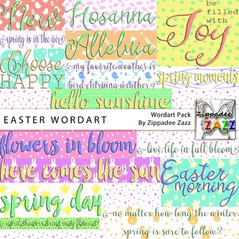 Easter Wordart for Product Covers
