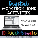 Digital Work From Home Activities on Google Slides - BUNDL