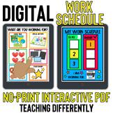 Digital Work Schedule Board for Distance Learning
