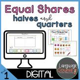 Digital Worksheets and Vocabulary for Google- Equal Shares