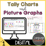 Digital Worksheets and Vocabulary for Google- Tally Charts and Picture Graphs