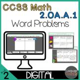 Digital Worksheets for Google Apps- 2nd Grade, 1-step & 2-