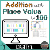 Digital Worksheets for Google Apps- Adding with tens and ones