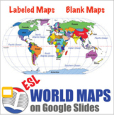 Digital World Maps | Continent and Ocean Maps