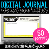 Digital Would You Rather Opinion Writing Journal