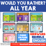 Digital Would you rather/Virtual Fun Friday | ALL YEAR - G