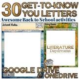 Digital Writing Activity Letter Writing Project Back to School