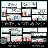 Digital Writing Bundle for Google Classroom & OneDrive