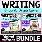 Digital Writing Graphic Organizers Bundle: Prewriting and