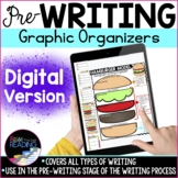 Digital Writing Graphic Organizers for Prewriting Stage of