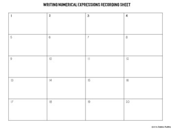 Digital Writing & Interpreting Numerical Expressions Task Cards