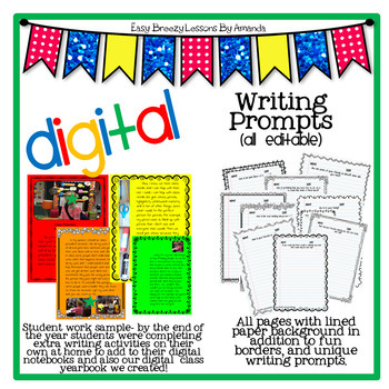 Digital Writing Journal (180 Prompts and Templates)