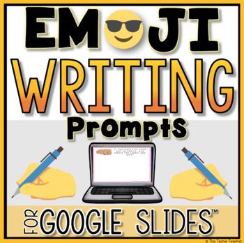 EMOJI Writing Prompts in Google Slides™