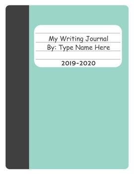 Digital Writing Journal (Google Slides)