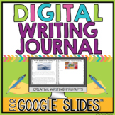 Digital Writing Journal in Google Slides™ for Creative Writing