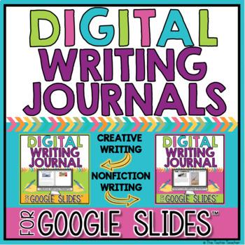 Digital Writing Journal Prompts BUNDLE: Google Slides